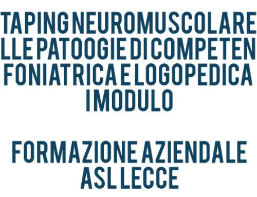 Taping neuromuscolare nelle patologie di competenza foniatrica e logopedica – I MODULO