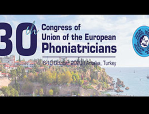 Union of European Phoniatricians (UEP) 2020