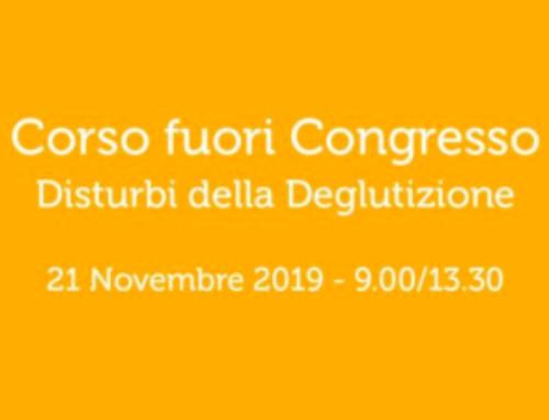 Corso I DISTURBI DELLA DEGLUTIZIONE – 21 novembre 2019, Salerno